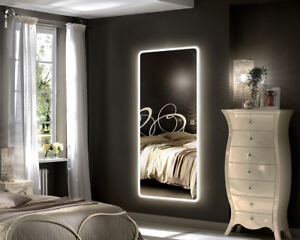 Details About Hans Alice Led Backlit Mirror Illuminated Full Length Wall Mount Dressing