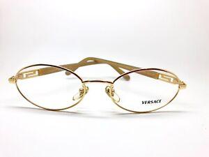 Vintage-Versace-M78-030-Gold-Oval-Eyeglasses-Optical-Frame-Lunettes-Eyewear-RX