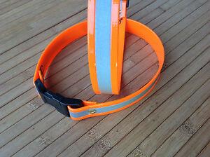 Biothane-Signalhalsung-Halsband-mit-Reflektor-Breite-25-mm-in-orange-oder-gelb