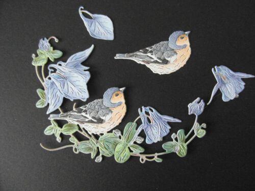 Tattered Lace Soie Sauvage Oiseau avec DECOUPIS x 6