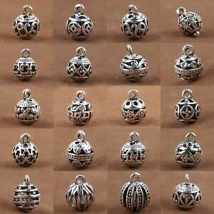 10pcs-8mm-10mm-Tibetan-Silver-Hollow-Metal-Charm-Pendants-Beads-DIY-Jewelry