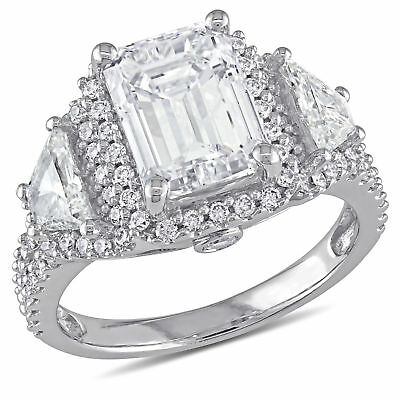 Amour 3 3/4 CT TW Diamond Halo Engagement Ring in 14k White Gold