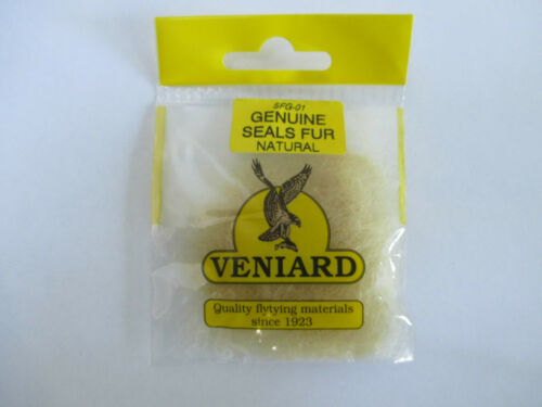 Veniard Fly Tying Genuine Seals Fur Trout//Salmon Flies-Choose Your Colour