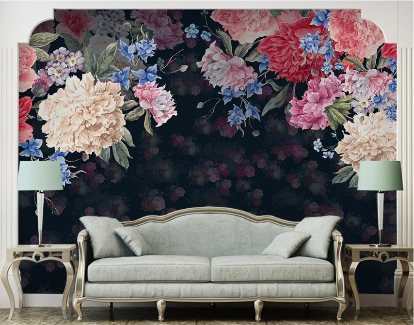 Papel Pintado Mural De Vellón Flor Clásica 2 Paisaje Fondo De Pantalla ES AJ