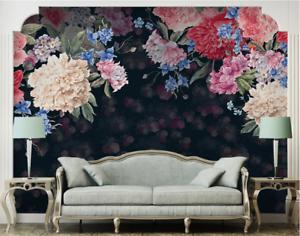 Papel Pintado Mural De Vellón Flor Clásica 2 Paisaje Fondo De Pansize ES AJ