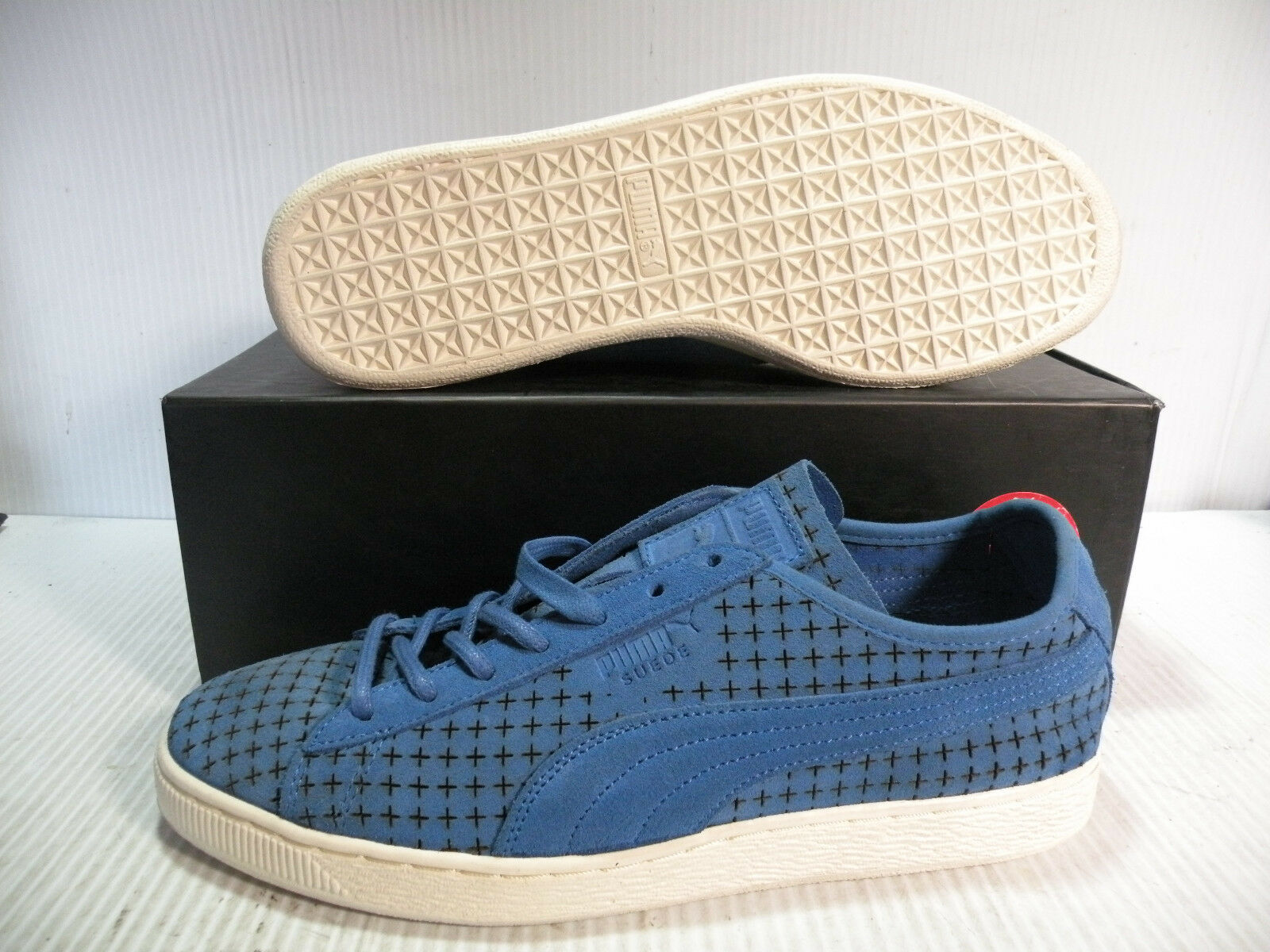 PUMA SUEDE COURTSIDE PERF LOW TENNIS MEN SHOES CAMPANULA 358441-05 SIZE 9.5 NEW