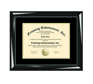image is loading dual certificate frames custom diploma college university document - Document Frames
