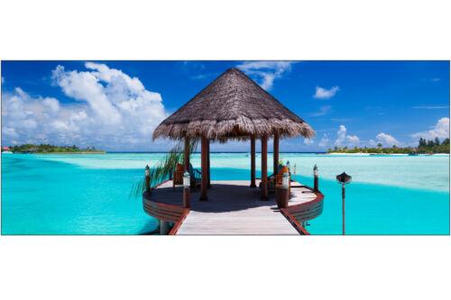 Brise vue déco imprimé pour jardin balcon ou terrasse Les Maldives 3607