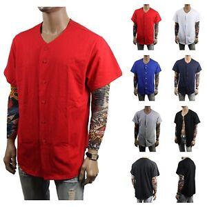 Men-Baseball-Raglan-Jersey-Plain-T-Shirt-Sport-Uniform-Cotton-Casual-Hipster