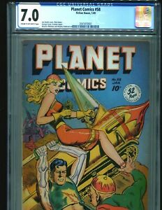 Planet-Comics-58-CGC-7-0-C-OW-pages-1949-Fiction-House-Rare-classic-Cover-895