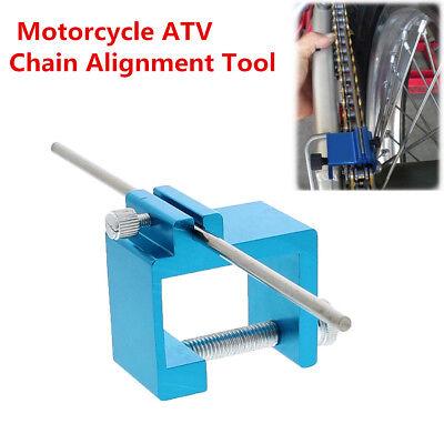 Motorcycle ATV Bike Blue Metal Chain Sprocket Alignment Adjusting Chains Tool