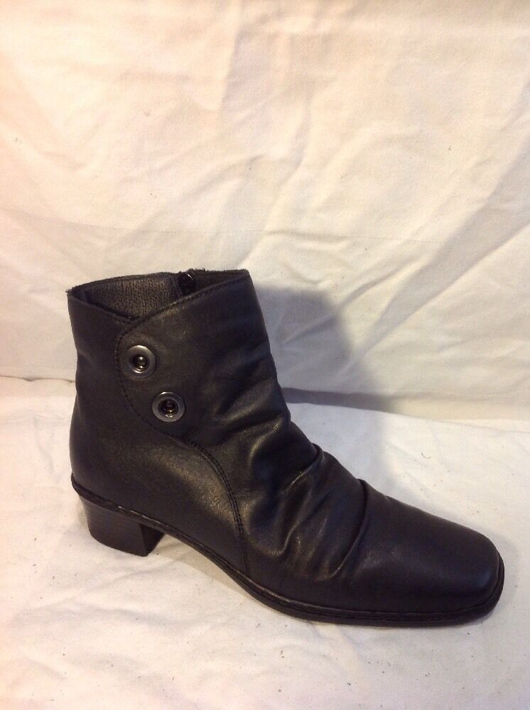 ea7987a3e3922 Rieker Black Ankle Leather Size 37 Boots oogtwx1865-Women's Boots ...