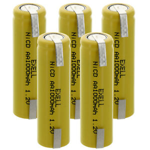 5x-AA-1-2V-1000mAh-Rechargeable-Batteries-w-Tabs-For-Razor-FRS-Solar-DIY-Pack