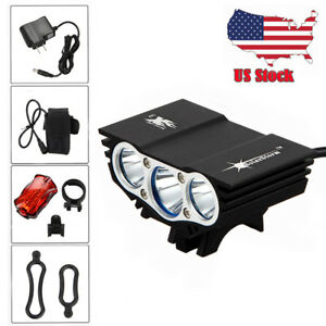 Rechargeable 12000Lm 3x XML U2 LED Head Front Bicycle Bike Light Headlamp SET