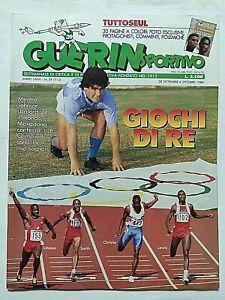 GUERIN SPORTIVO 39-1988 MARADONA OLIMPIADI SEUL 88 ANTIBO CABRINI TANCREDI