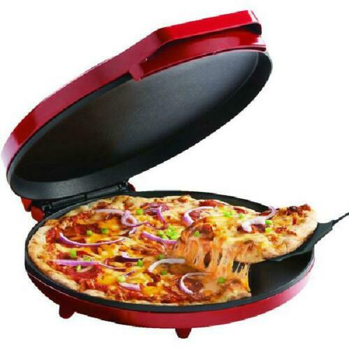 """Electric Pizza Maker Nonstick Baking Plate Compact Quesadillas Home Cooker 12"""""""