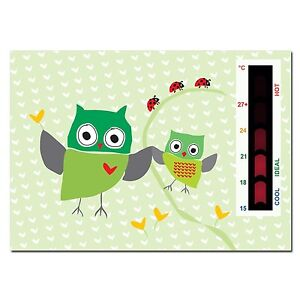 Details About Baby Green Owl And Ladybird Nursery Room Safety Temperature Thermometer Monitor