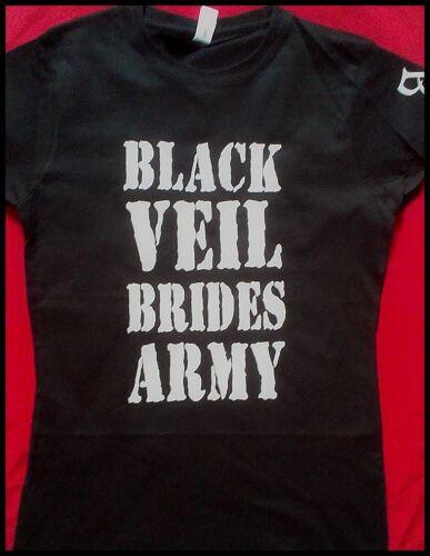 BLACK VEIL BRIDES ARMY LADIES FITTED T-SHIRT BLACK VEIL BRIDES
