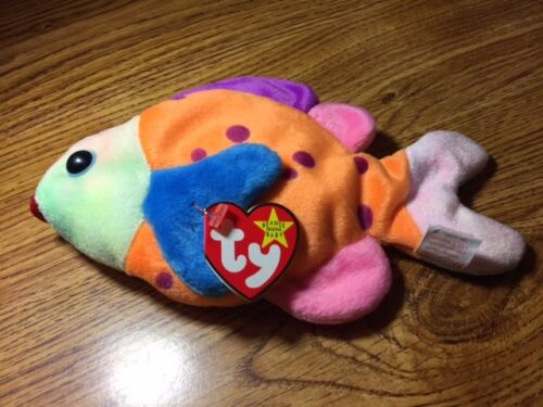 Ty Beanie Babies Ty Beanie Baby LIPS The Fish MWMT --- FREE SHIPPING