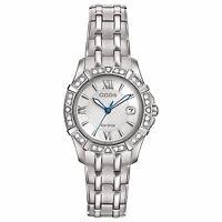 Citizen Eco-Drive Women's EW2360-51A Diamond Silver Tone Bracelet Watch