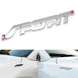 Silver-Sport-Emblem-Trunk-Fender-Badge-Sticker-Car-Metal-3D-Logo-Stickers-Cool