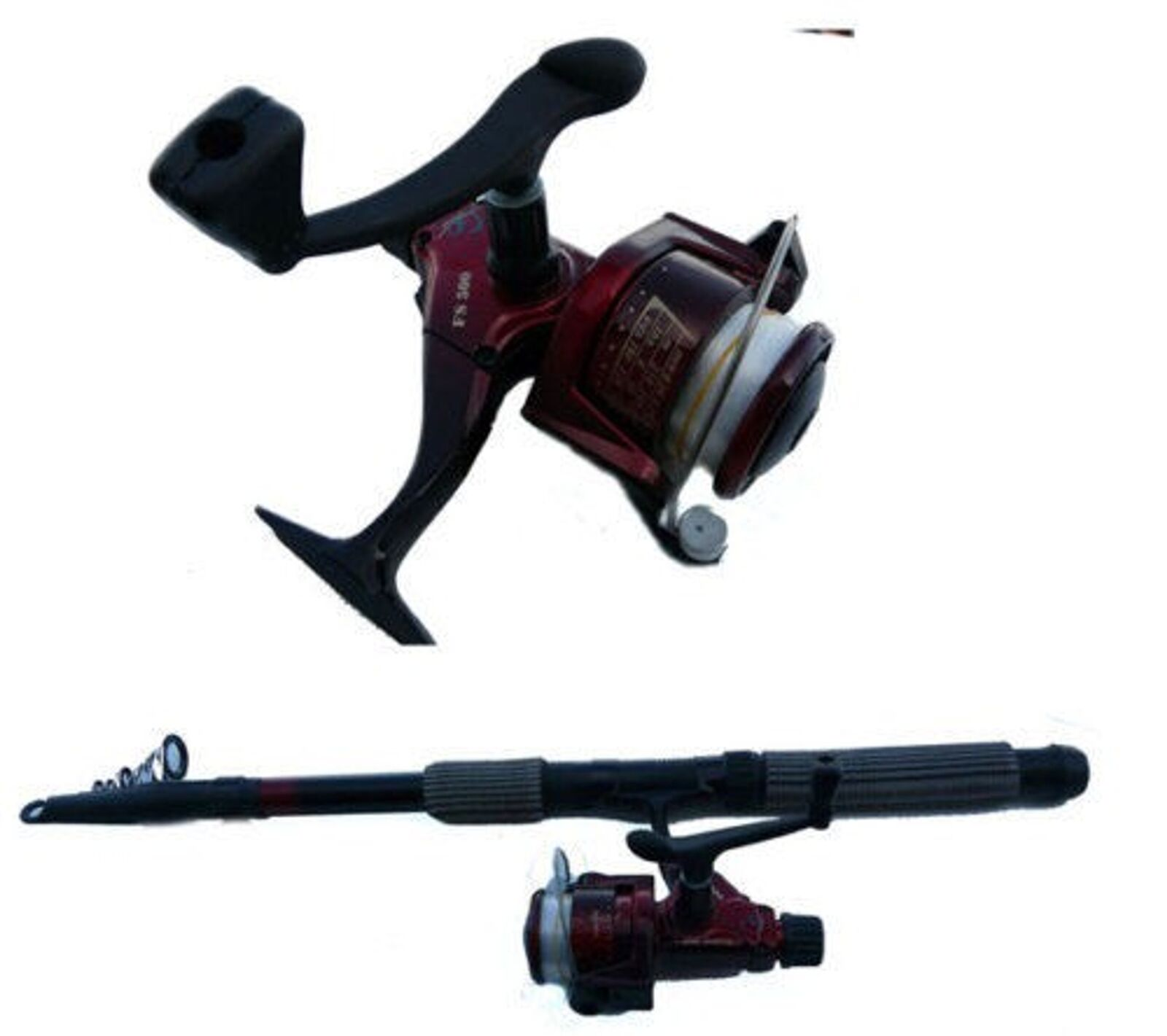 Pesca Set Aus Caña de Rollo con Línea Largo 4.5 4.5 4.5 M + Carrete FS500 b2dc66