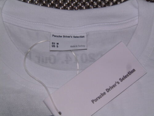 """NOS PORSCHE DESIGN SELECTION RACING /""""OUR MISSION/"""" T-SHIRT FOR 2014 EURO M=USA S"""