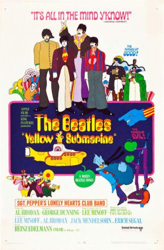 "The Beatles Yellow Submarine Movie Poster  Replica 13x19/"" Photo Print"