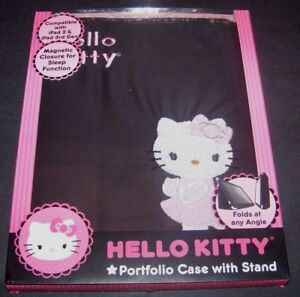 Hello-Kitty-Portfolio-Case-with-Stand-iPad-2-iPad-3-3rd-Generation-Black-Pink