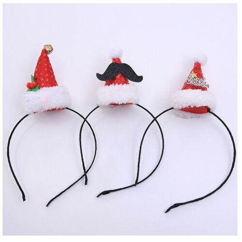 Christmas Hat Headband Santa  Hair Band Clasp Headdress Xmas Child Party Favors