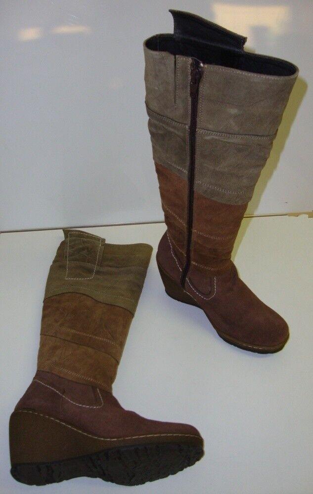 V2 Calzados botas Mujer Altura Piel Rodilla de Piel Altura Caqui Nuevo 871f0c