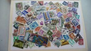 2104-lot-100-timbres-seconds-plusieurs-pays