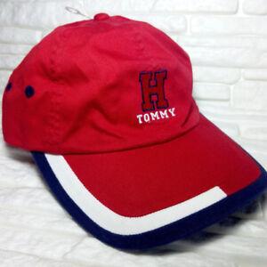 Tommy Hilfiger Rot Blau Baseballmütze Hut Für Kind 100% Baumwolle Vp €40 Gr. S/m