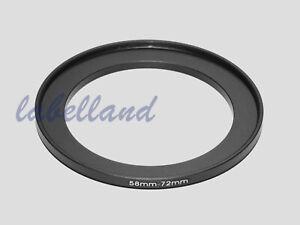 Adaptador filtro step-down anillo adaptador 72mm-58mm 72-58 anillo adaptador