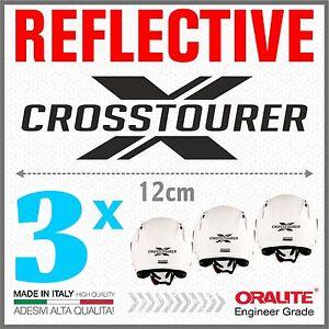 3x Rifrangenti Adesivi Nero Compatibile Con Vrf 1200 X Honda Crosstourer Moto