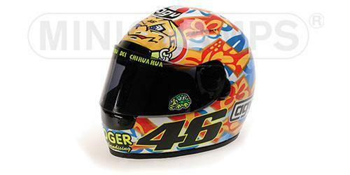 Casco Helmet Agv Valentino Rossi Gp Mugello WC 2001 Minichamps 1:2 327010076