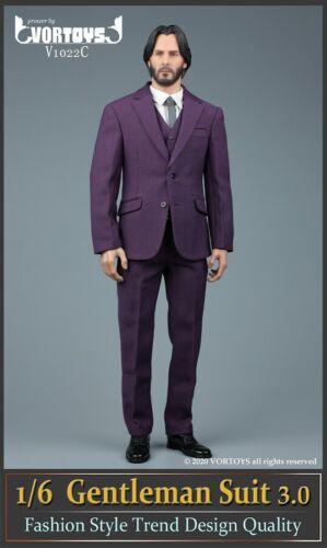 """Details about  /VORTOYS V1022C 1//6 Purple Suit Trousers Clothes Model Fit 12/"""" Male COOMODEL Body"""