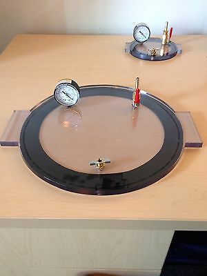 "Vacuum Chamber Lid 13"" Diameter Polycarbonate Ready To Use Brand New"