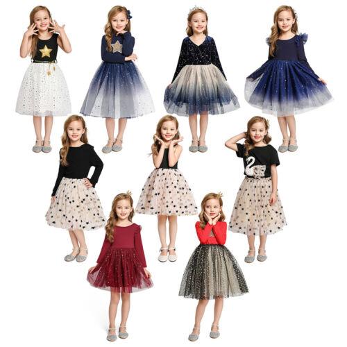 Kids Summer Star Printing Mesh Knitting Splice for Girls Casual Fashion Dresses