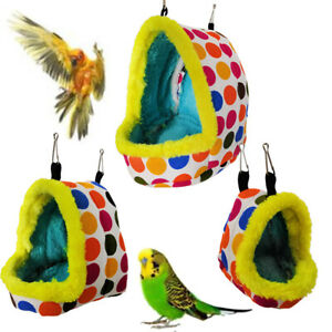 Bird-Parrot-Warm-Hammock-Cage-Parakeet-Budgie-Colorful-Hut-Tent-Bed-Hanging-Cave
