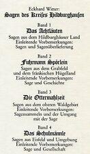 E. Witter: Sagen des Landkreises Hildburghausen 4 Bände
