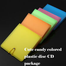 12 Plastic CD DVD Disc Double Sleeve Holder Pack Clear Storage Case Bag Package