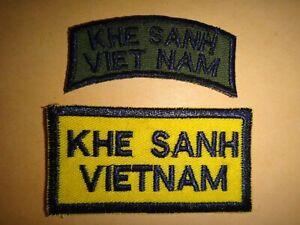 Conjunto-de-2-Guerra-Vietnam-Destenido-y-Color-Parches-034-Khe-Sanh-Vietnam-034