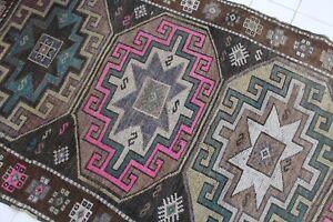 Vintage-Handmade-Turkish-Oushak-Runner-Rug-280x125cm-111-034-x49-034
