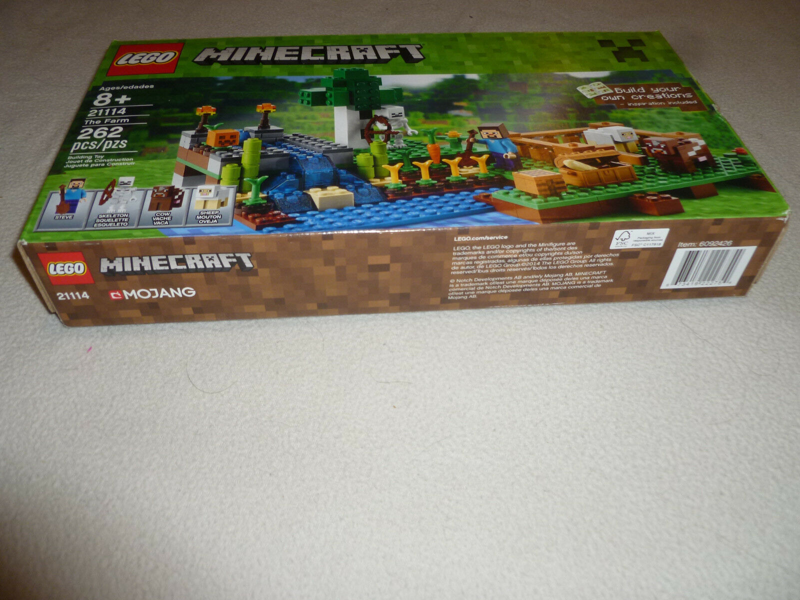 BOXED LEGO MINECRAFT 21114 THE THE THE FARM SET COMPLETE 262 PCS MINI FIGS SKELETON COW 46b973