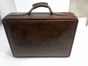 Details about Authentic Hartmann Luggage Belting Leather Briefcase File Hard Case Mens Brown