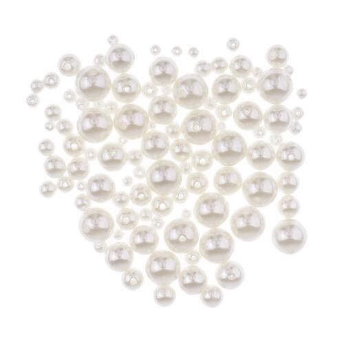 100 PCS Blanc Nail Décoration Perles Décoration De Mariage Décoration À