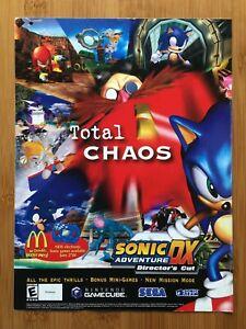 Sonic Adventure DX Director's Cut Gamecube 2003 Print Ad/Poster Official Pop Art