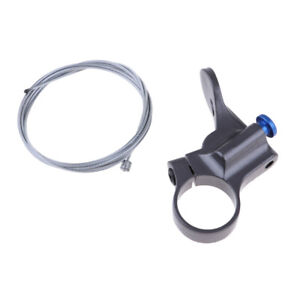 Front Fork Remote Contorl Lockout Lever w// Inner Cable Gray Bicycle Accessory