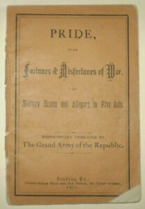 1871, PRIDE, FORTUNES & MISFORTUNES OF WAR, MILITARY DRAMA, AMERICAN CIVIL WAR